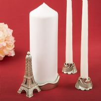Paris Eiffel Tower Themed Candle Set